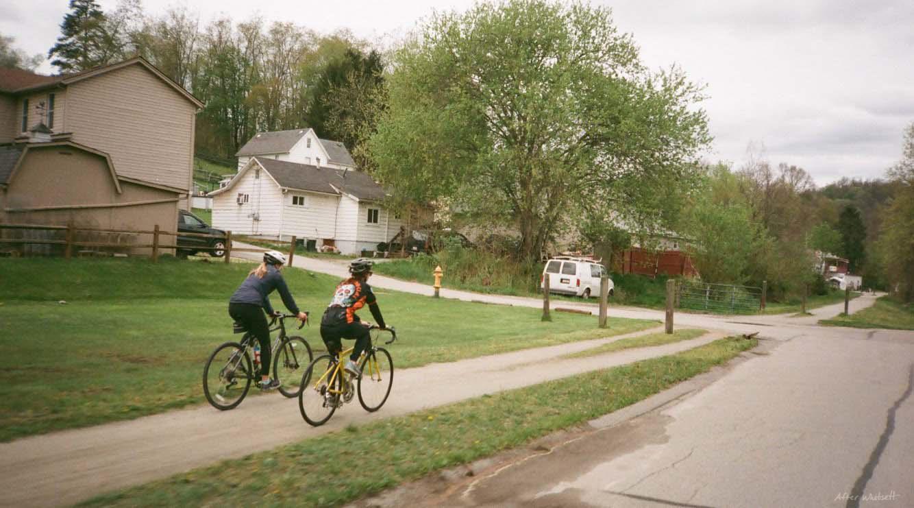 Biking on the Great Allegheny Passage Bike Trail